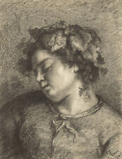 Gustave Courbet Reproduction: Head of a Sleeping Baccante - Fine Art Print