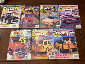 TRUCKIN' Magazine Lot 1990s Sport Truck Mini-Trucking Custom Hot Rod Lot Of 7