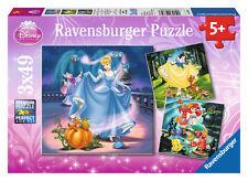 Ravensburger Puzzle 3 mal 49 teile Schneewittchen Aschenputtel Arielle