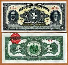 Mexico, Revolution, 1 Peso, 1915, P-S1071,  Sonora, UNC