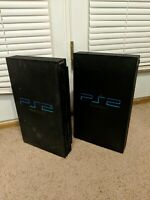 Lot of Two (2) Sony Playsation 2 PS2 Fat models For Parts Or Repair