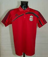 LIVERPOOL TRAINING POLO FOOTBALL SHIRT 2009/2010 ADIDAS SIZE L MINT