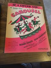 Vintage Sheet Music - 1944 If I loved You, Carousel, Rodgers and Hammerstein