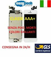 DISPLAY LCD TIANMA iPhone 5 ASSEMBLATO COMPLETO Fotocamera HomeButt Cassa BIANCO