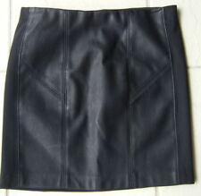 Faux Leather Solid Petite Skirts for Women