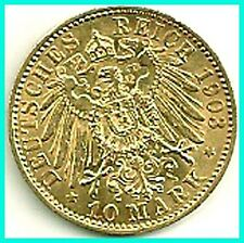 GERMANY - 1903 - A - GOLD 10 MARK - PREUSSEN  A.UNC !! ,