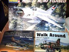 MIG-21 M/MF FISHBED 1:32REVELL MODEL+N.2 SQUADRON SIGNAL WALK AROUND N.37&N.39
