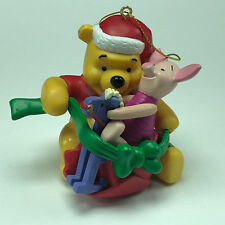 WINNIE POOH CHRISTMAS ORNAMENT Walt Disney figurine holiday piglet rocking horse