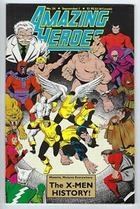 - -> AMAZING HEROES #54 ... 1984 .... X-Men