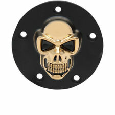 3d Skull Tapa De Encendido Negro - ORO, F.HARLEY - DAVIDSON TWIN CAM 99 - HOY
