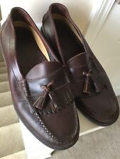 French Shriners Cortland Men's 10 M Brown Leather Tassel Kiltie Loafers Shoes