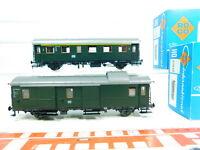 BT502-0,5# 2x Roco H0/DC Gepäck-/Personenwagen DB NEM: 4203 A + 4204 A, OVP