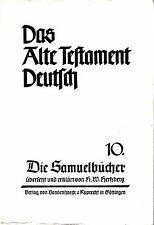 Das Alte Testament Deutsch 10 / Die Samuelbücher / Hans Wilhelm Hertzberg