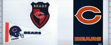 Lot of 3 Chicago Bears Patch Mini Pennant Sticker