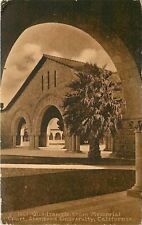 Stanford University California~Quadrangle From Memorial Court~1910 Sepia PC