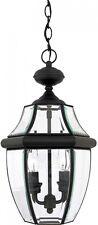 "Outdoor Pendant Light Hanging Black Fixture 18.5"" Decor Lighting Porch Patio"