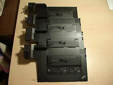 Lot of 4 Lenovo 4338 eSATA Laptop Docking stations T510 T520 T530 W510 X230
