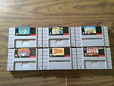 Super Metroid +Zelda: A Link to the Past +Mario World +Allstars +Kart +1 (SNES)