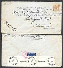 1941 Sweden Censored Cover to Denmark
