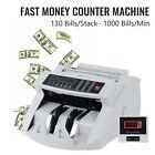 Money Bill Counter Machine Cash Counting Counterfeit Detector UV MG Bank Checker