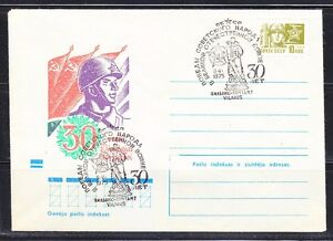 Soviet Russia 1975 cover 30th anniver.Lithuanian SSR Liberation WW2 Soldier 01