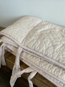 Restoration Hardware Washed Cotton Baby Crib Bumper Petal Pink