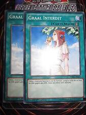 YU-GI-OH! COM GRAAL INTERDIT  LOT DE 2 (PLAYSET) WIRA-FR053 NEUF EDITION 1
