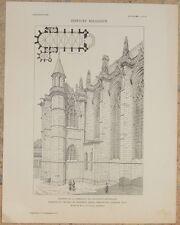 CHAPELLE DU CHATEAU DE VINCENNES SEINE SAUVAGEOT CAPPELLA ARCHITETTURA 1905