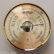 133mm Gold Bezel Barometer Gold Dial Fit-up/Insert, Weather Instruments