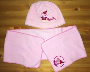 Girls Pink Peppa Pig Hat & Scarf - Age 1-3 years - Mothercare
