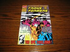 Marvel - TRANSFORMERS #80 - Low Print Last Issue!! Glossy FN/FN+  1991