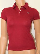 Hollister Women´s Polo Shirt Iconic Sz XSmall Color Burgundy NWT