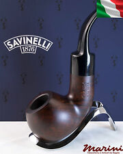 Pipa Pipe Capitol Bruyere by Savinelli radica verniciata scura curva 641 KS