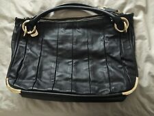 Authentic Bally Black Calf Leather Bag Excellent Condition With Dust Bag
