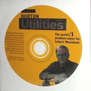 Norton Utilities Version 4.0 For Mac OS 7.5 Thru OS 8.6 - Bootable Ver 4 , V4.0