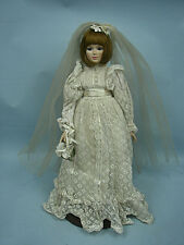 "Gloria Vanderbilt 18"" Summer Bride Doll by The Danbury Mint 1987 With Stand"