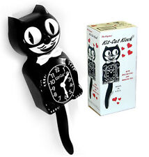 Kit-Cat Clock Black - Original - Wall Clock - Classic - with Batteries