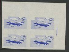 Guernsey ALDERNEY 1965/67 6d vignette PROOF block 4