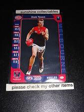 2015 AFL TEAMCOACH PRIZE CARD DOM TYSON MELBOURNE