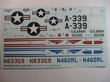 REVELL MONOGRAM 1/32 PIPER SUPER CUB  #85-5483  kit decal sheet SALE!!!