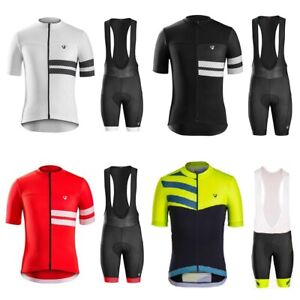 Men Cycling Jersey Set Short Sleeve Men Cycling Jersey And Bib Short Set
