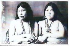 Female Eskimo Twins, Alaska, Native American Indian, Nude, AK -- Modern Postcard