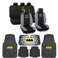 Batman Seat Covers & 4PC Rubber Floor Mats for Car & SUV Auto Accessories