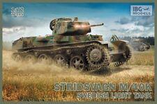 Ibg 1/72 Stridsvagn M/40K Tanque de luz sueco # 72035