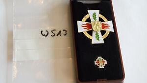 Orden Feuerwehr NRW Verdienstkreuz überragende Verdienste golden mit Pin (w513)