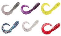 """YOU PICK COLOR & QUANT. 3"""" RIBBON Twister Curly Tail Grubs Bass Walleye Crappie"""