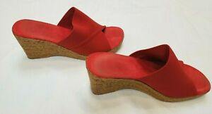 ONEX CHRISTINA WEDGE SANDALS WOMEN'S SIZE 10 RED