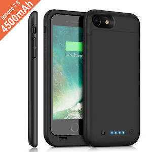 For iPhone 6s 7 8 Plus Battery Case Ultra Slim Extended Batery Backup Black