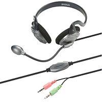 Bandridge Black/Silver Neckband Stereo VOIP PC Gaming Headset