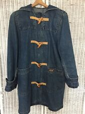 Women's Lauren Jeans RL Vintage 90s Toggle Hooded Jean Jacket Blue Denim Medium